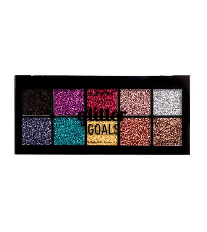 Nyx Calendario Avvento.Nyx Professional Makeup Palette Di Glitter Pressati Glitter Goals Cream Pro