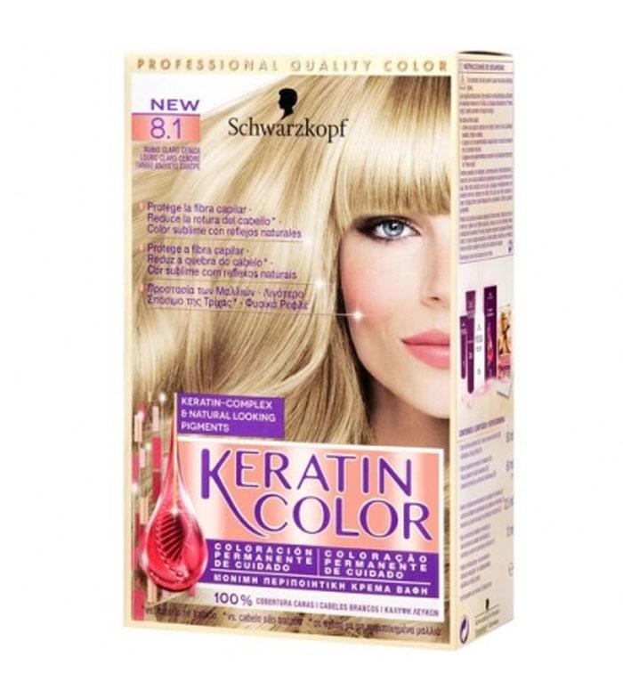 Schwarzkopf Colorare Keratin Color 81 Biondo Cenere Chiaro