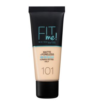 Maybelline - Fit Me Foundation Matte + Poreless - 101: True Ivory