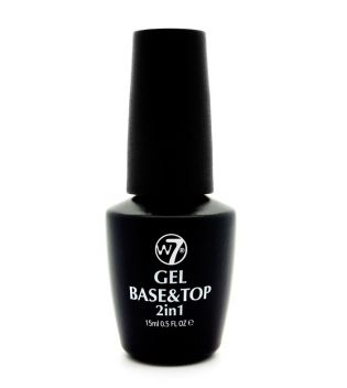 W7  - Smalto per unghie 2 In 1 Gel Base and Top Coat Angel Manicure